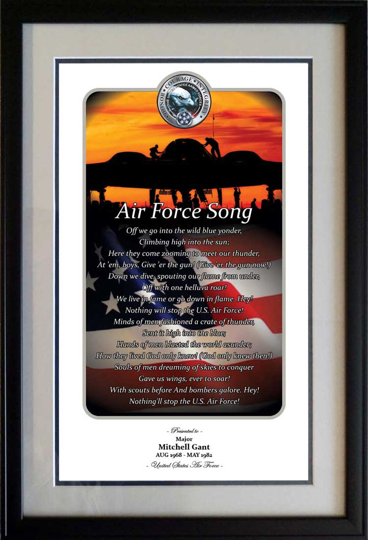Honor Courage Integrity Air Force Print