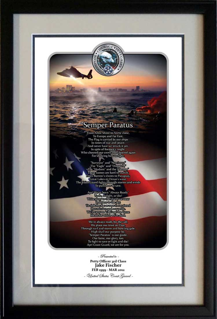 Honor Courage Integrity Coast Guard Print