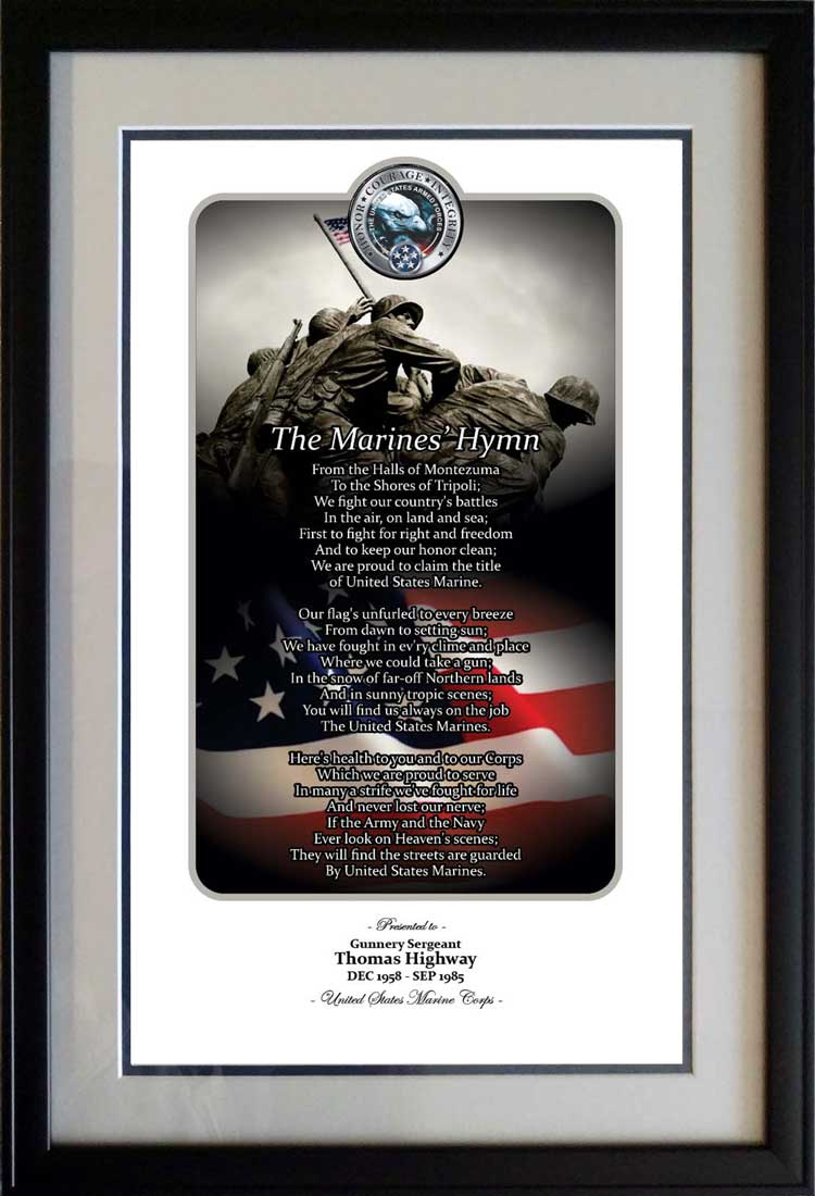Honor Courage Integrity Marine Corps Print