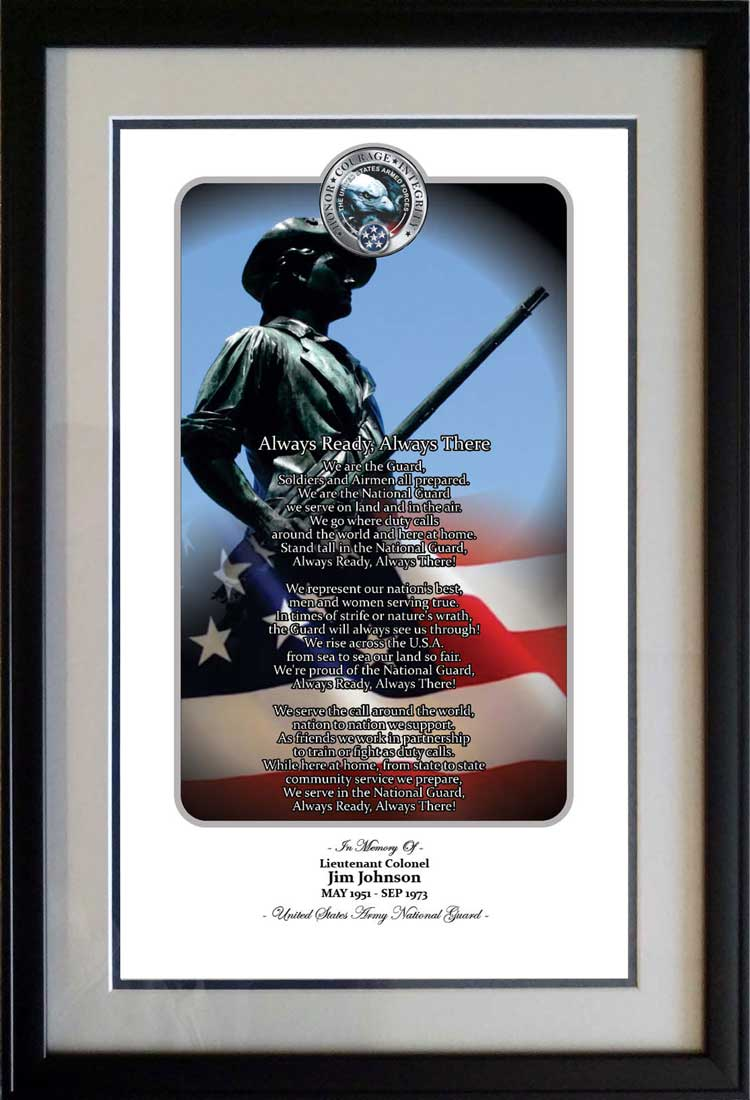 Honor Courage Integrity National Guard Print