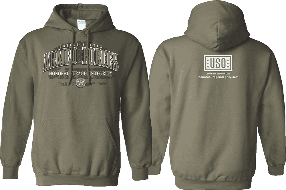 Honor Courage Integrity USO - CSO Hooded Sweatshirt